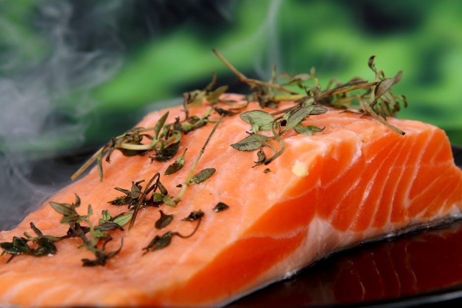 Sticky rice and quinoa salmon